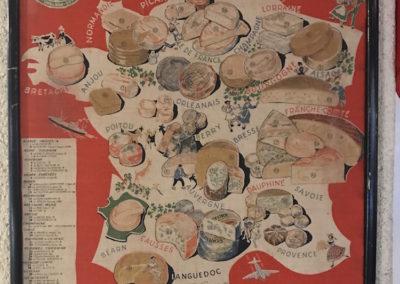 Carte ancienne La France Fromagère