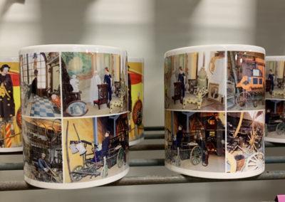Des mugs souvenir du musée